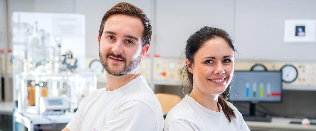 Mit Weitsicht: Lea Debes und Niclas Beier wussten schon früh, dass sie einen technischen Beruf lernen möchten.