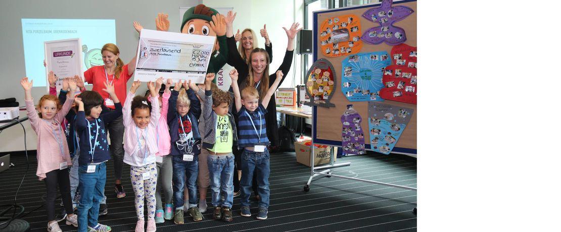 Der erste Preis ging an die Kita Purzelbaum aus Rodenbach.